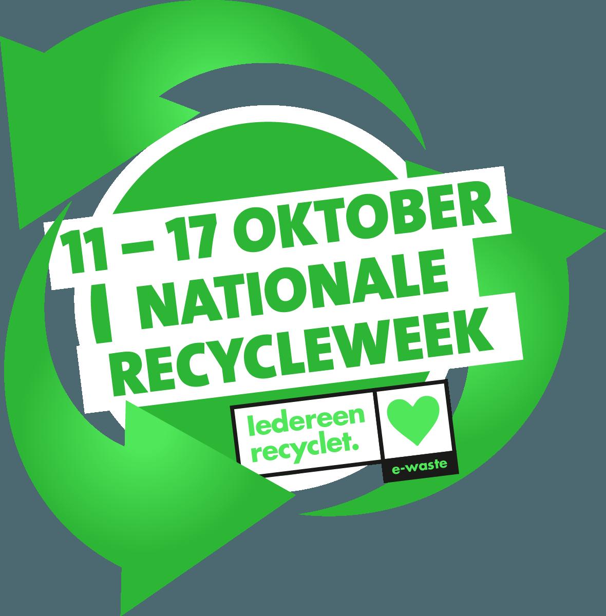 Hergebruik voorop bij de Nationale Recycleweek